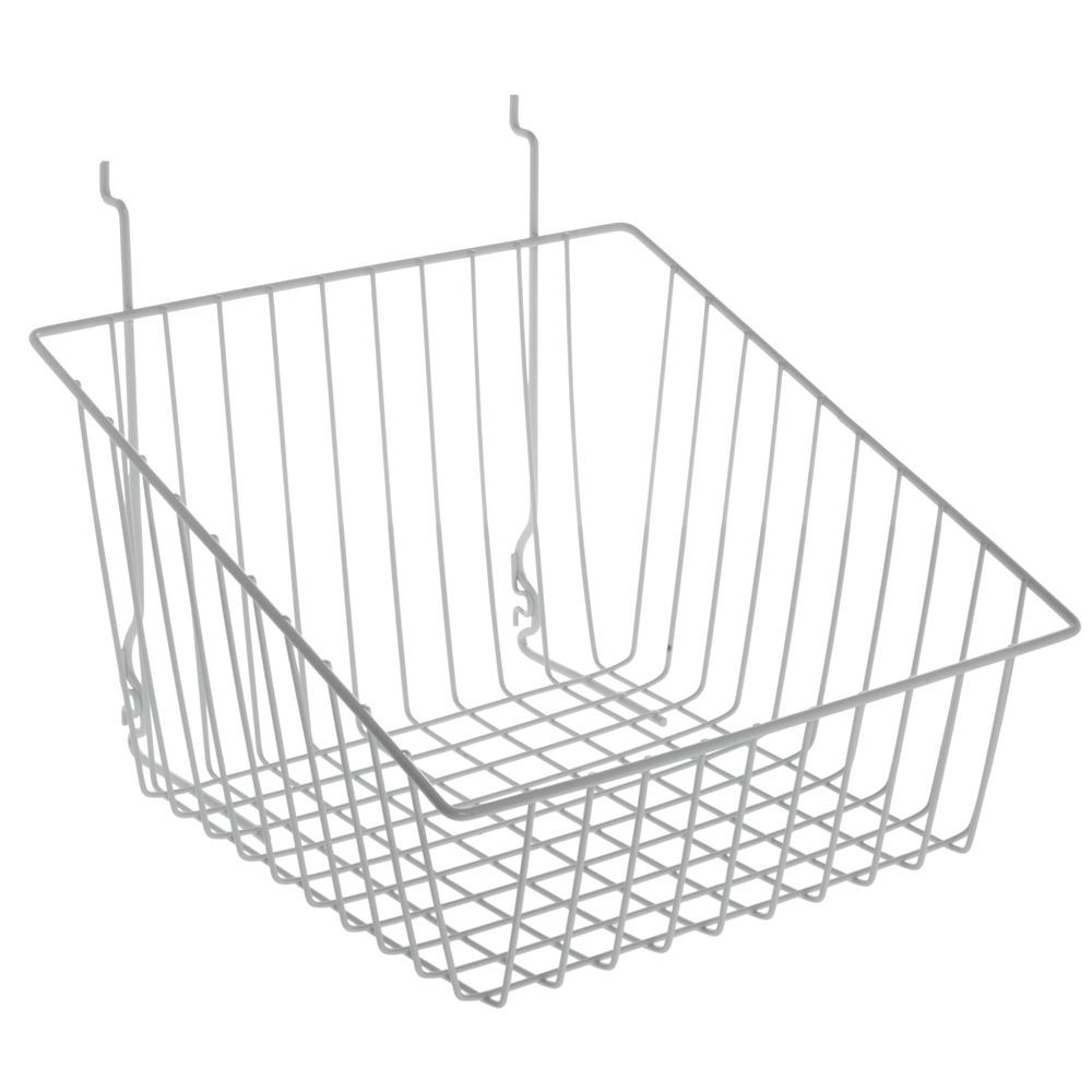 bb8d9c51409 White Wall Mounted Wire Baskets