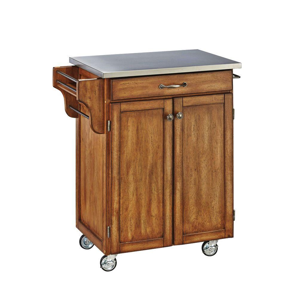 Cart sm cuisine s s top oak base