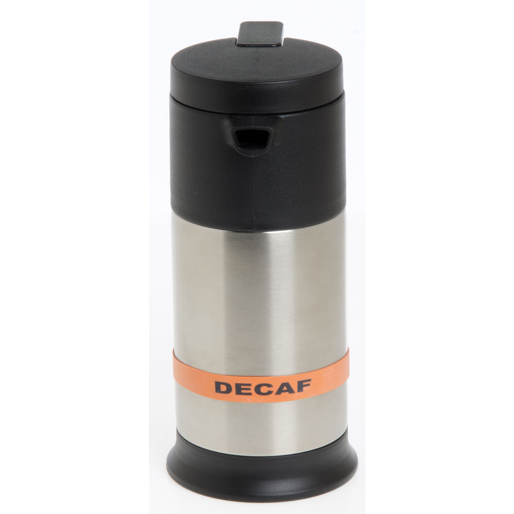 Service Ideas™ Beverage Flavor Bands Orange with Black Decaf Imprint 6/Pk