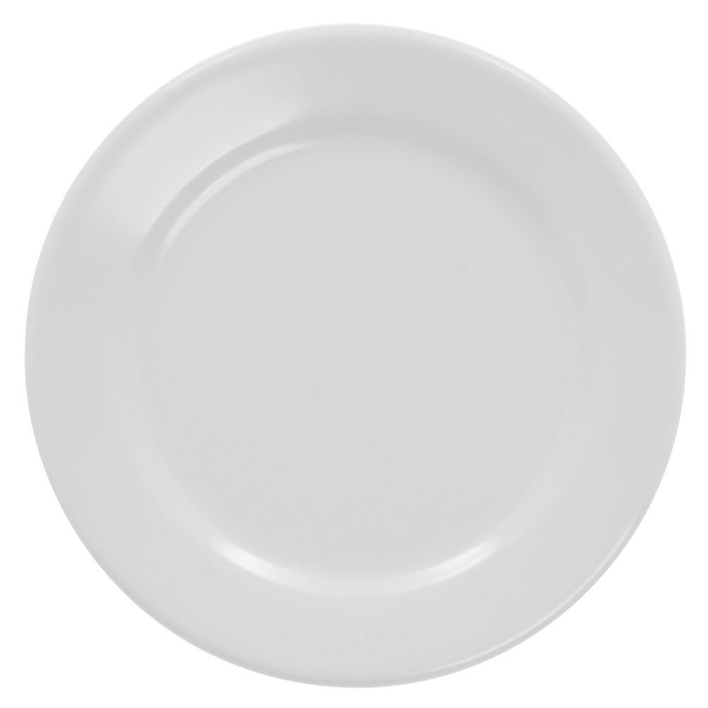 "PLATE, ROUND RIM, WHITE, 6-1/2"""