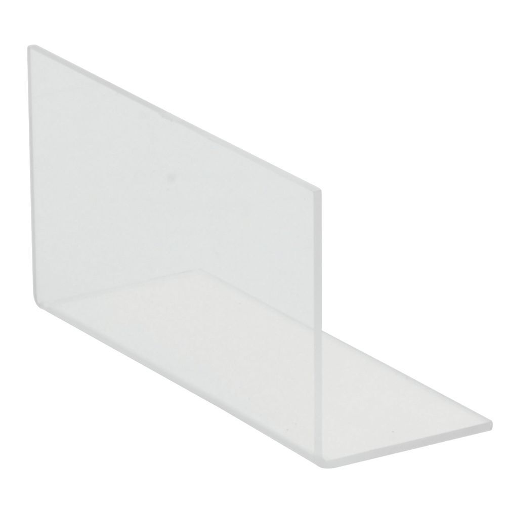 """Tiered Vegetable Rack Accessories Clear Plastic Side Fence 6 1/2""""L x 3 1/2""""W x 2 1/2""""H"""