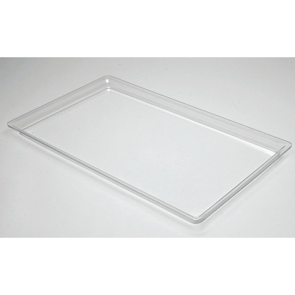 "Cal-Mil Low Profile Rectangular Acrylic Tray in Clear  18""L  x 26""W x 1""H"