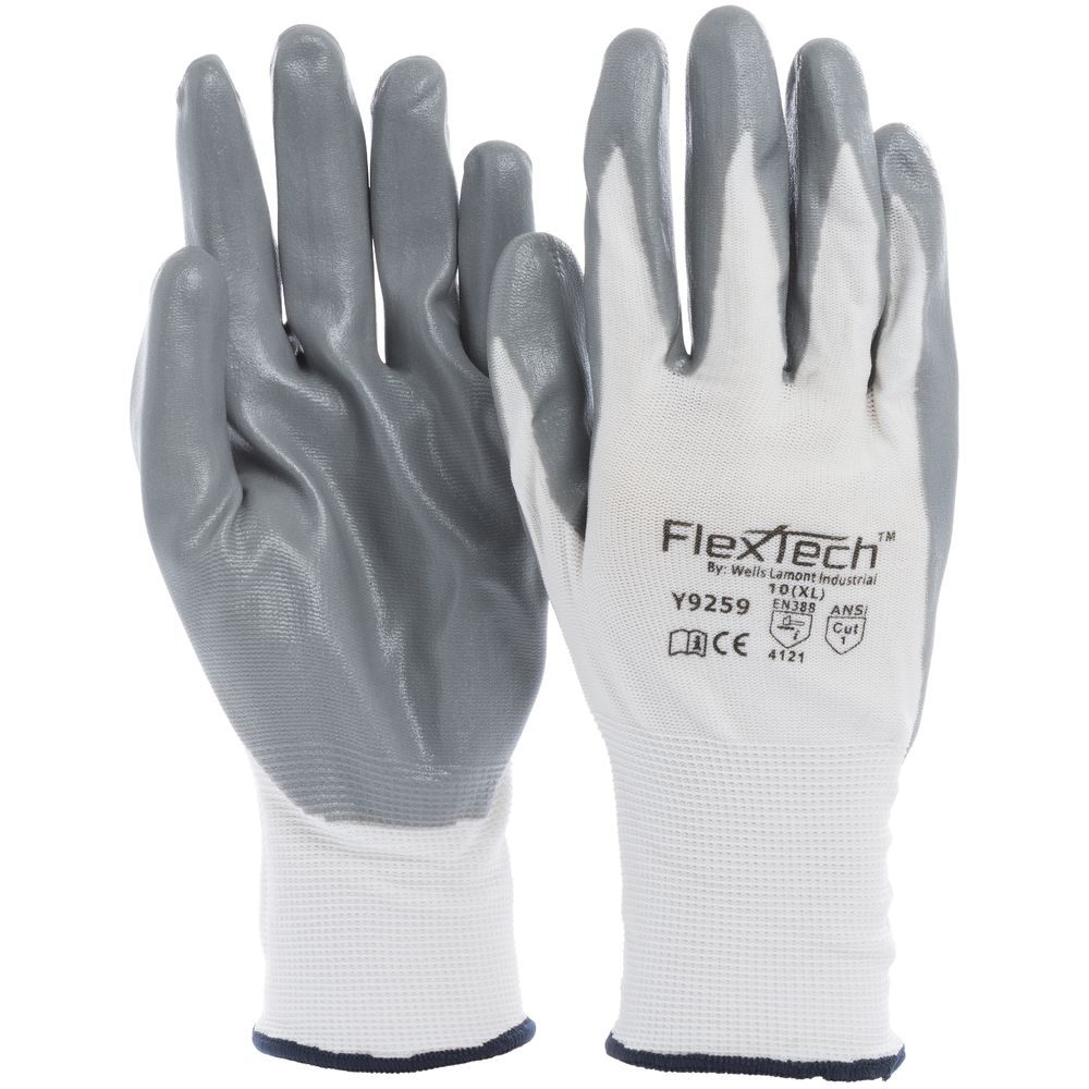 Tucker Safety FlexTech™ Work Gloves with Nitrile Palm XL