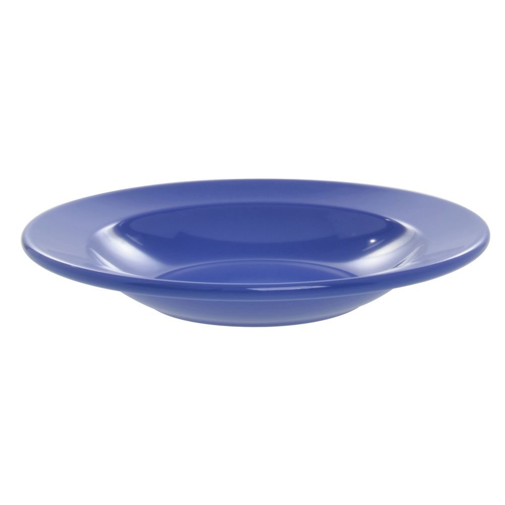 Elite Rio Mid-Rim Pasta or Soup Bowl 12 Oz Winter Blue Melamine Dinnerware
