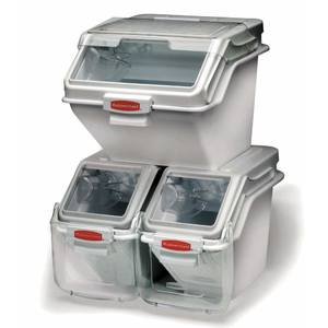 BIN, SAFETY STORAGE W/2CUP SCOOP, 100 CUP