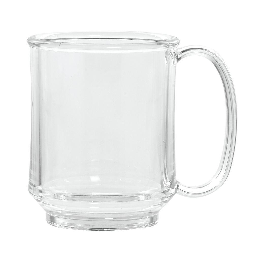 G E T 8 Oz Clear Tritan Plastic Adult Sippy Mug 3 3 4 Quot L