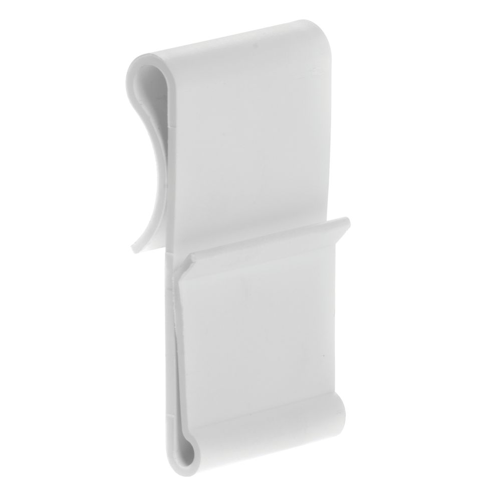 HUBERT White Plastic Wire Shelf Sign Holder - 1 1/4L x 2 1/4H