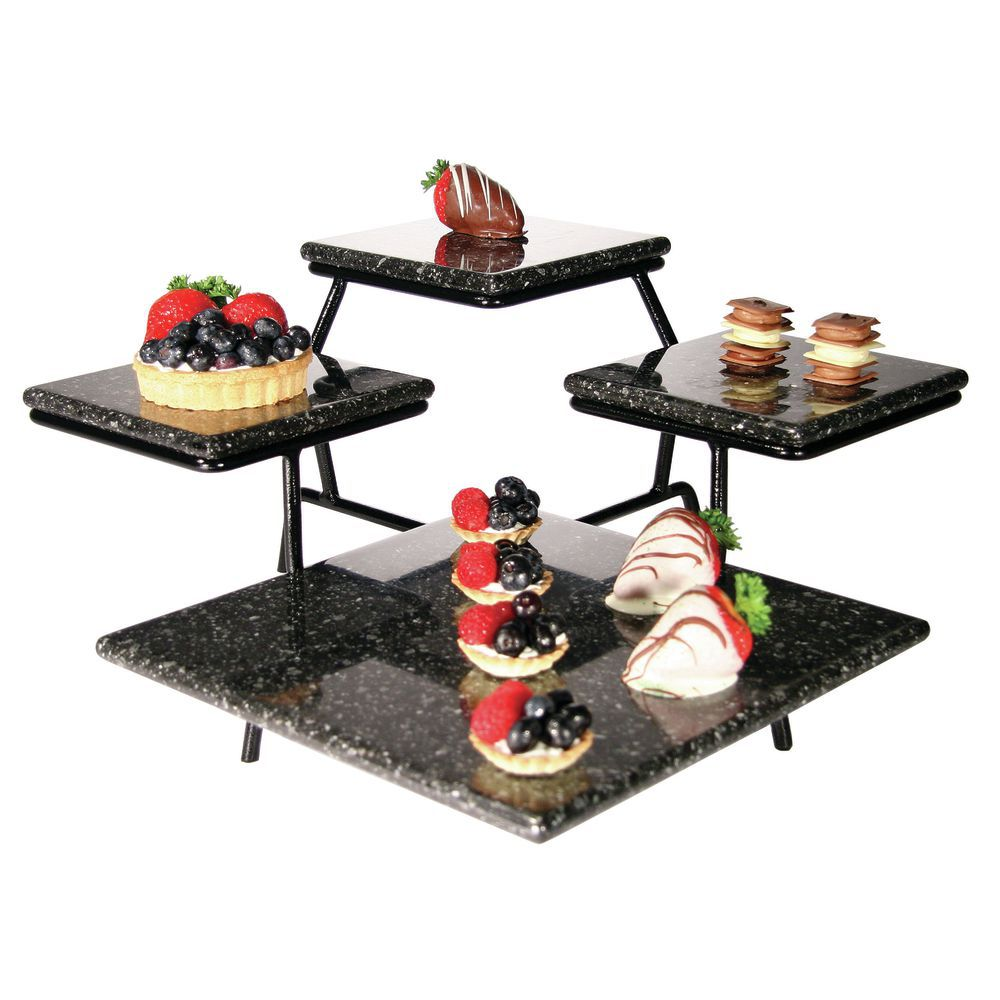 """Tiered Serving Platter With Four Serving Trays 19 1/2""""L x 19 1/2""""W x 8 1/2""""H"""