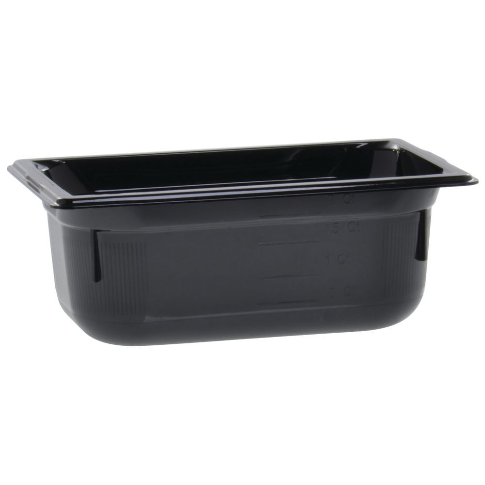 "Vollrath Super Pan Black Plastic Buffet Pan HighTemp 1/4 Size 4""D"