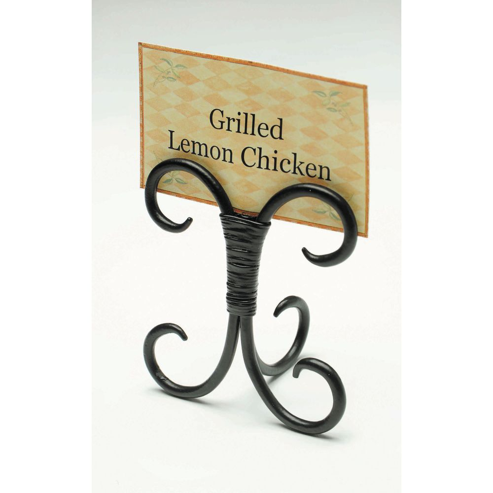 Expressly Hubert Black Wrought Iron Sign Holder 3 1 4 L X 2 W X