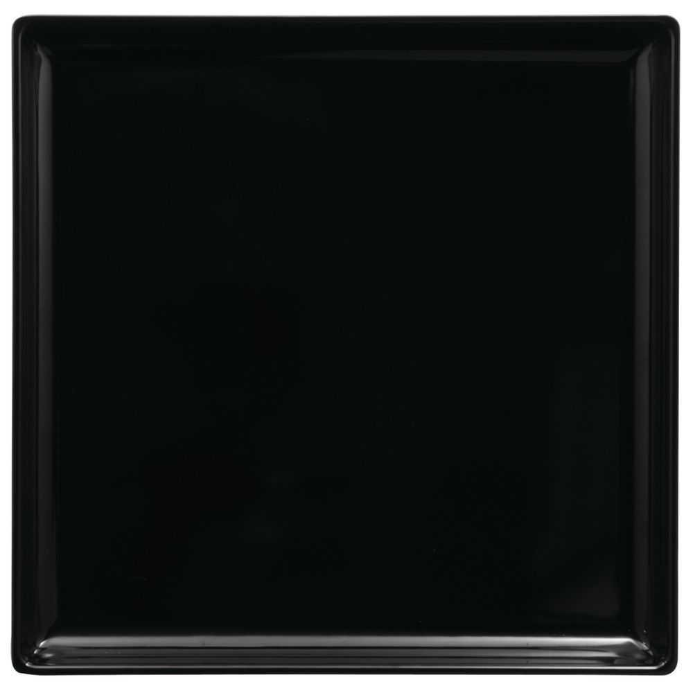 """TRAY, SQ.14X14X1.5"""", BLACK, MELAMINE"""