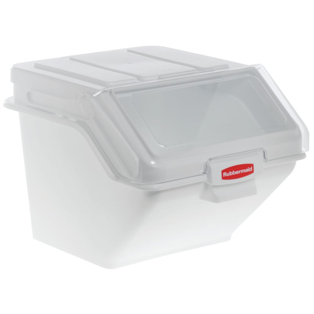 BIN SAFETY STORAGE W/2CUP SCOOP 200 CUP  sc 1 st  Hubert.com & Rubbermaid ProSave 200 cup White Plastic Stackable Storage Bin - 23 ...