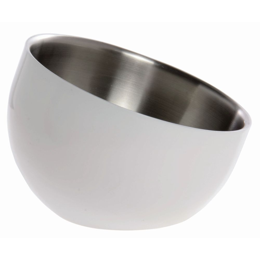 BOWL, DW, WHITE, INCLINE, 7X5.5X3, STAINLESS