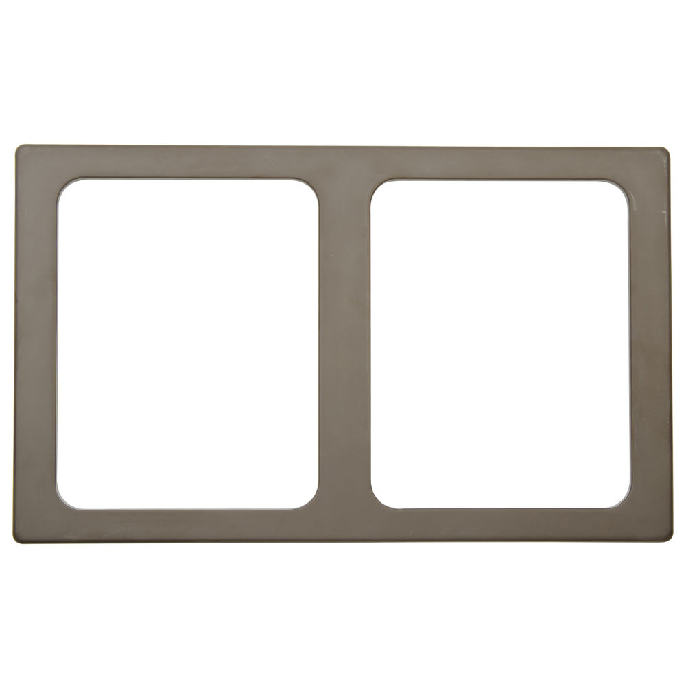 TILE, MELAMIN, FOR 2 HLF SZ PANS, BROWN
