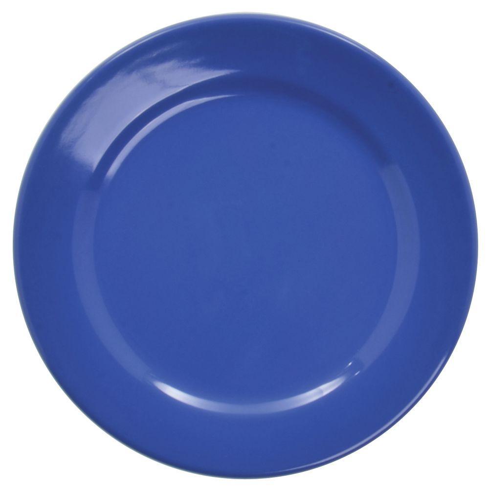 """Elite Rio Melamine Plate Mid Rim 7 3/4"""" dia Winter Blue"""