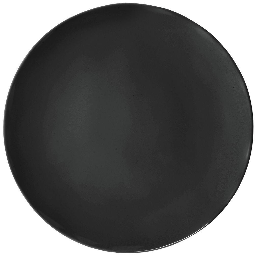 sc 1 st  Hubert.com & Elite Modern Oblong Collection Round Black Melamine Plate - 12Dia x 1/2H