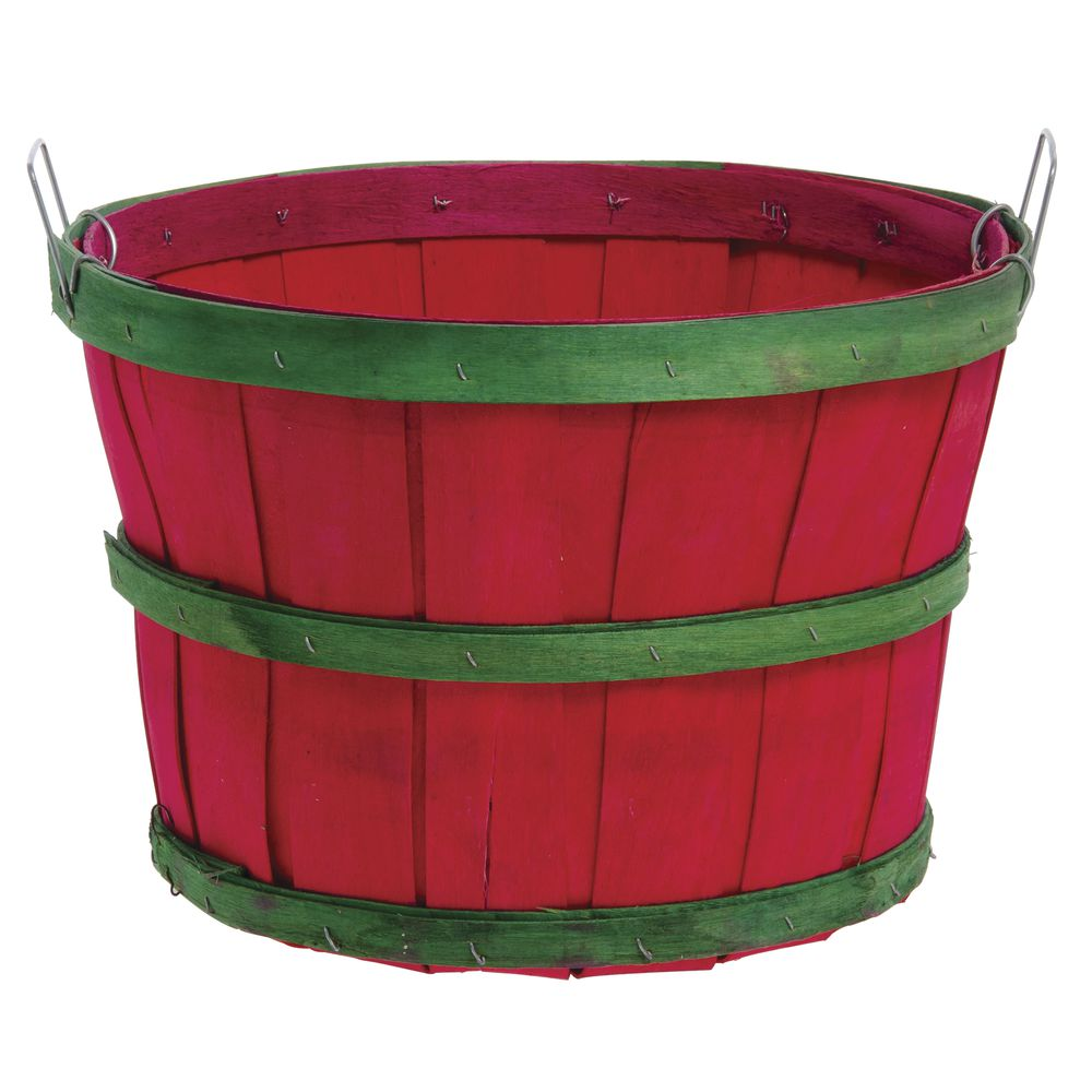 1/2 BUSHEL RED WITH GREEN BANDS