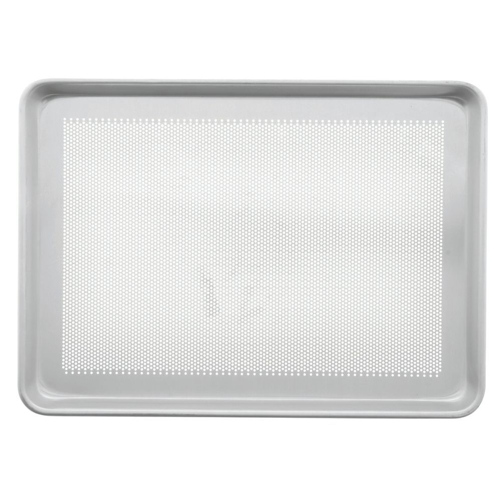 "Chicago Metallic Aluminum Baking Pan Perforated Bottom Half Size 18""L x 13""W 18 Gauge"