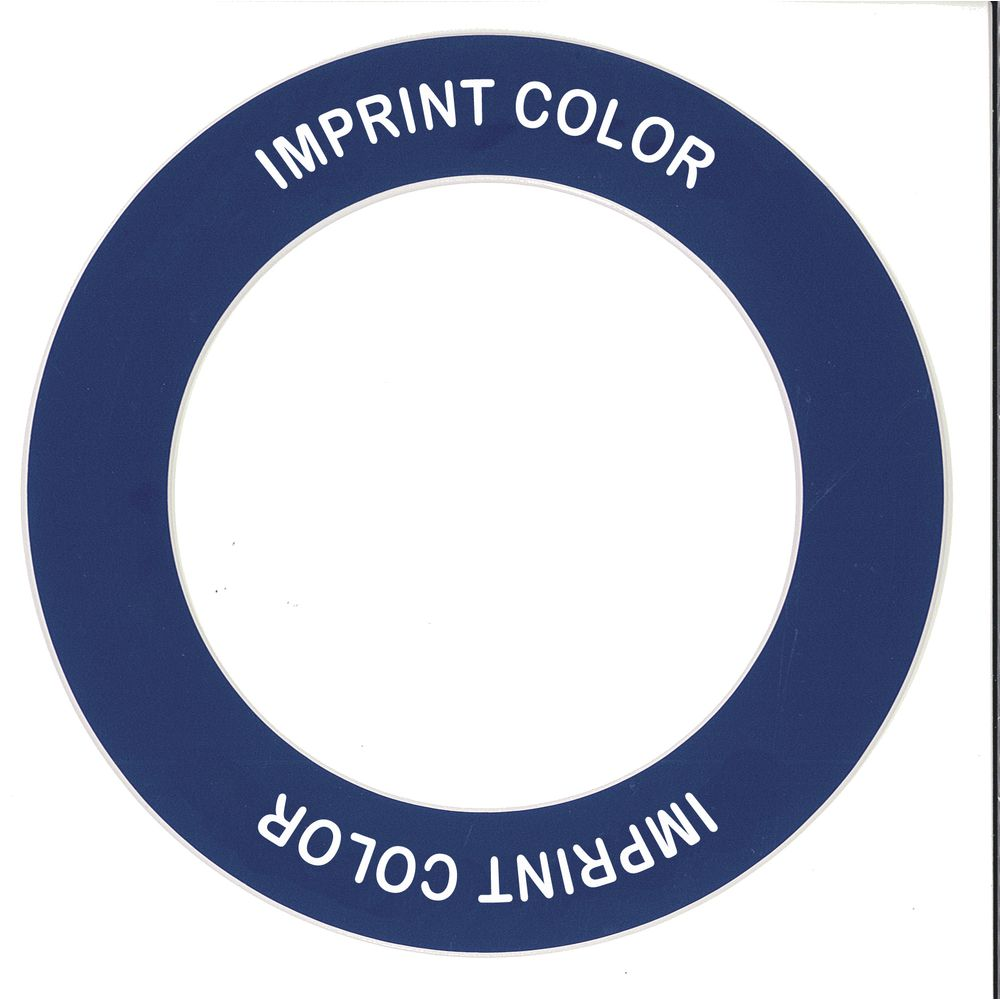 "Store 'N Pour ID Ring Cobalt/White Plastic Overall Dia 5 1/2"" Inside Dia 3 1/2"""