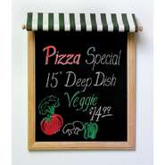 "SIGN, MARKERBOARD W/AWNING, 27""H X 21.5""L"
