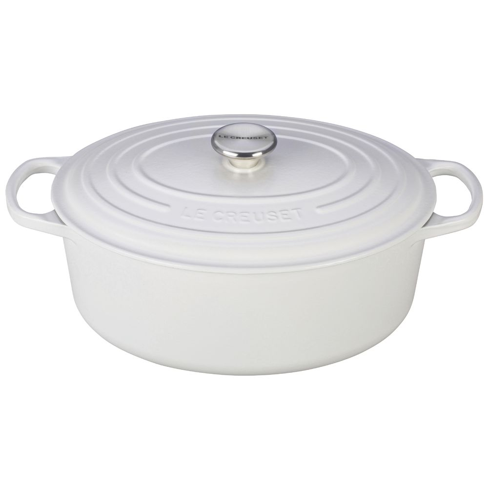 OVEN, FRENCH OVAL, WHITE, 2.75 QT, CAST