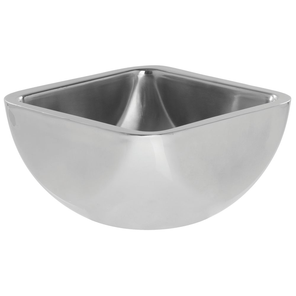 HUBERT® Square Double Wall Bowl Stainless Steel Smooth 1 1/4 Qt