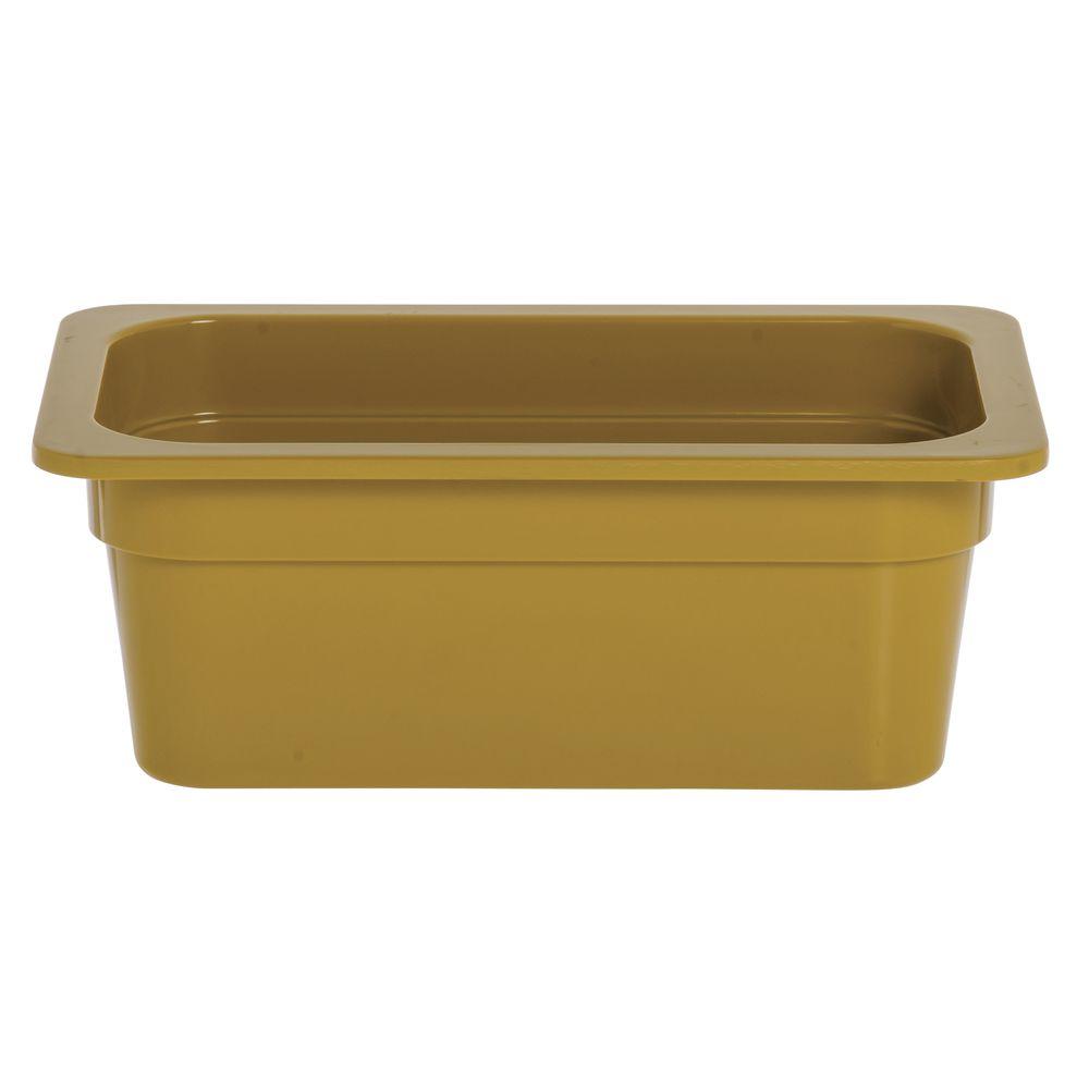 "Expressly Hubert® Fourth Size Melamine Pan 4""D Mustard Yellow"