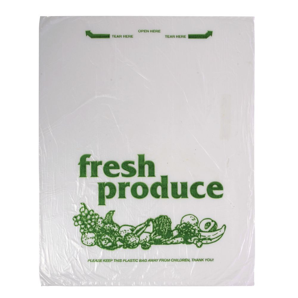 """Clear Perforated Produce Bags 3000 Bags 12/"""" x 20/"""" Case of 4 Rolls"""