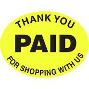 LBL, THANK YOU FOR SHOPPING, YEL/BLK, 5R/PK