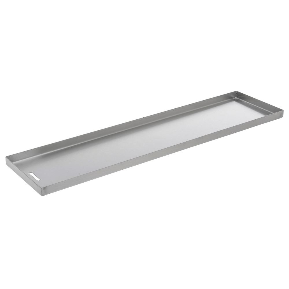 "PAN, STAINLESS, DRAIN SLOT, 6""X24""X0.75""D"