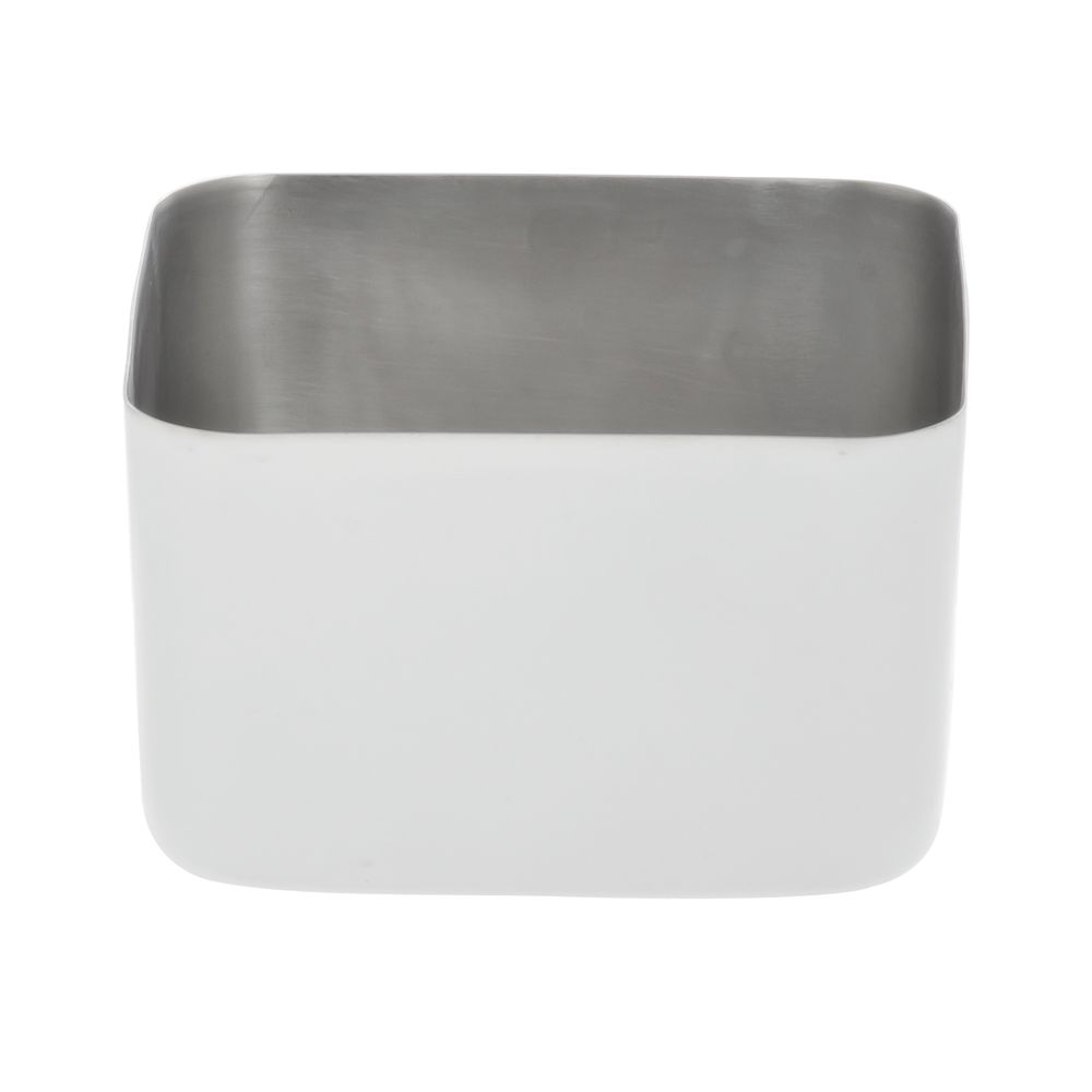 """Expressly Hubert® Stainless Steel Pan White 4 7/8"""" Square x 3""""H"""