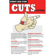 POSTER, FIRST AID, CUT/WOUND CARE, 11X17