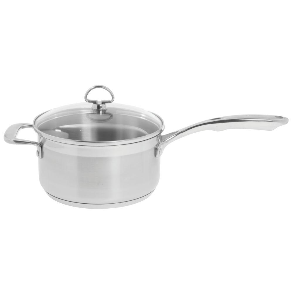 SAUCE PAN, W GLASS LID + HNDL, 3.5 QT