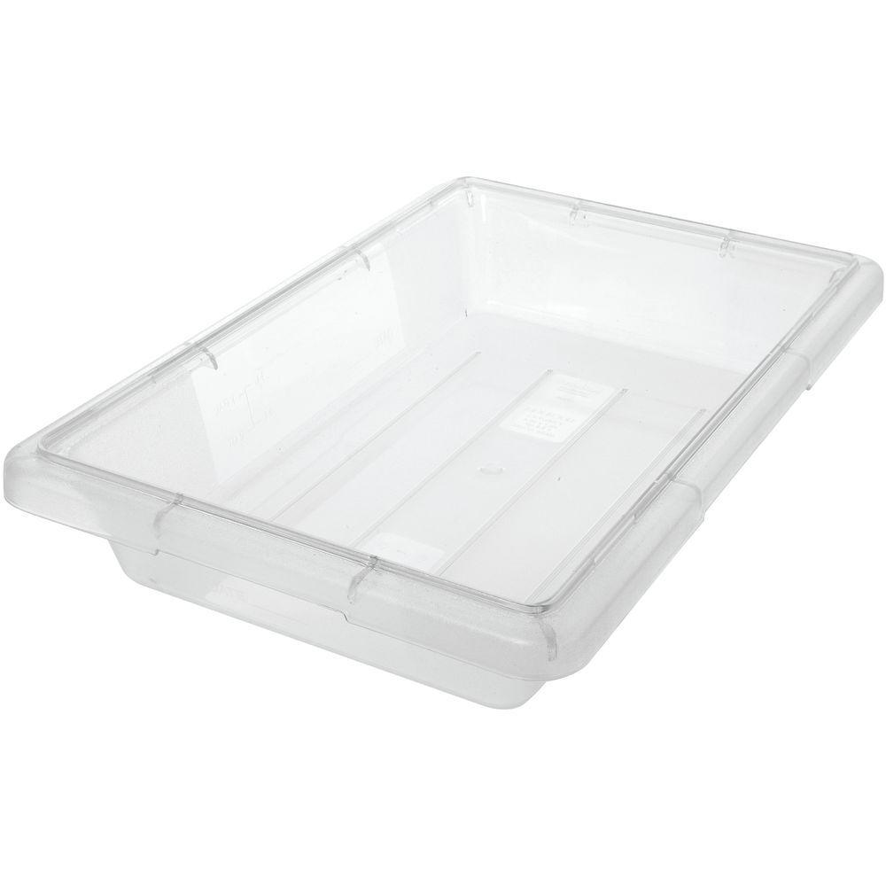HUBERT 2 gal Clear Plastic Half Size Food Storage Box - 18L x 12W x ... 548e55359d321