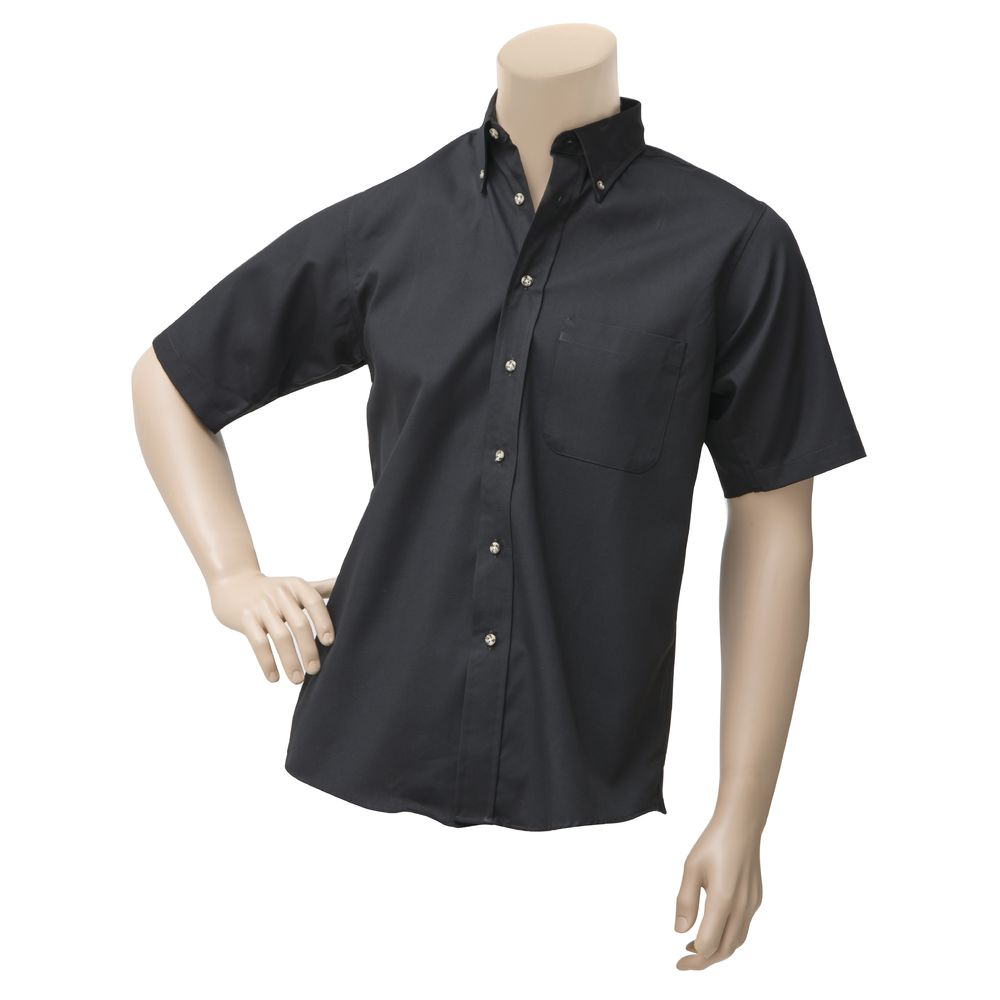 SHIRT, DRESS, MEN'S, SHRT SLVE, BLACK, MED
