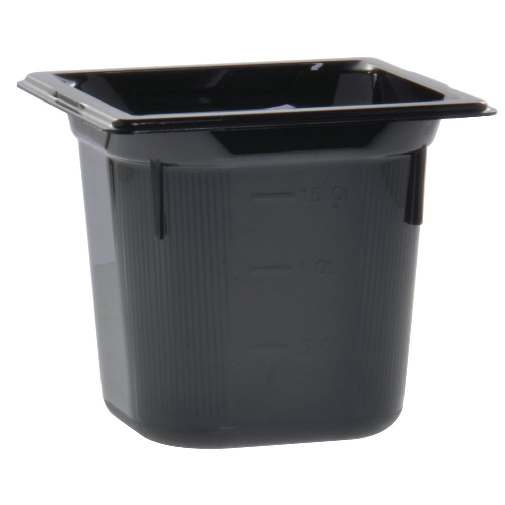 "Vollrath Super Pan Plastic Steam Table Pan HighTemp Black 1/6 Size 6""D"