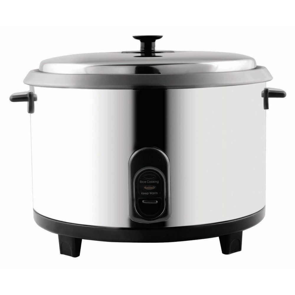 COOKER, RICE, LARGE 23 CUP, STAINLESS