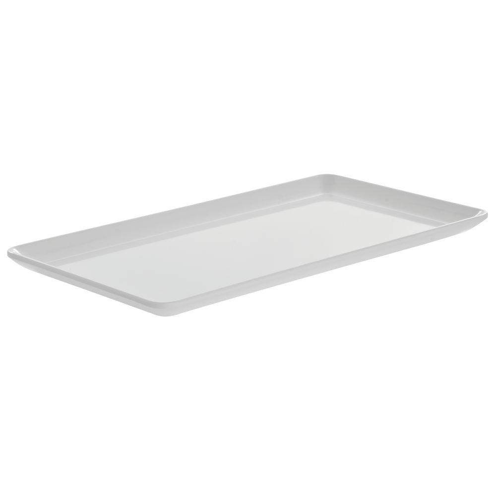 "G.E.T. Rectangular Melamine Coupe Platter 12 1/2""L x 7""W White"