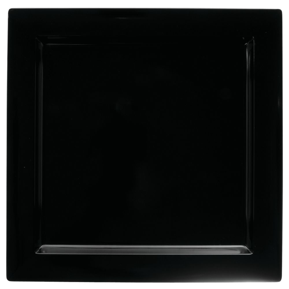 PLATTER, BLACK, SQ, LARGE, 14.75X14.75X1