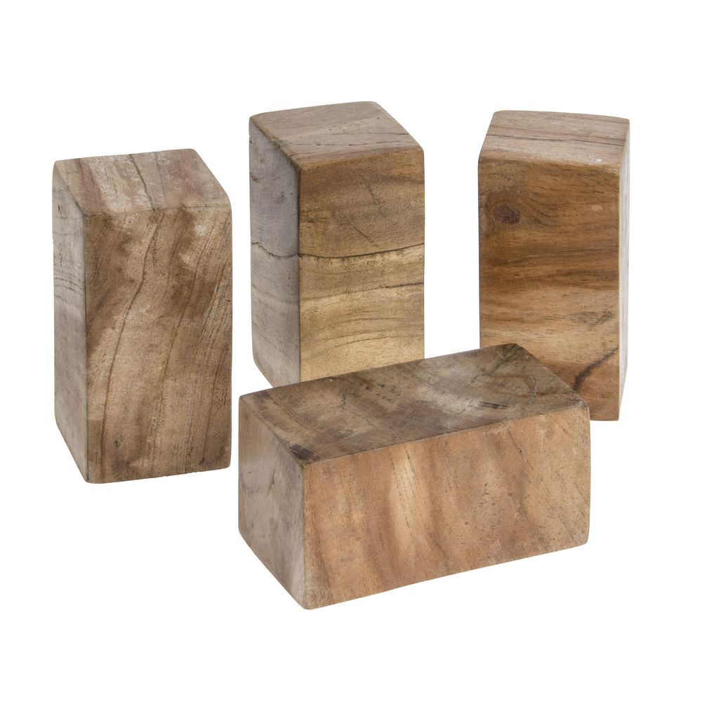 Elevation Reclaimed Wood : Expressly hubert rectangular reclaimed wood riser support