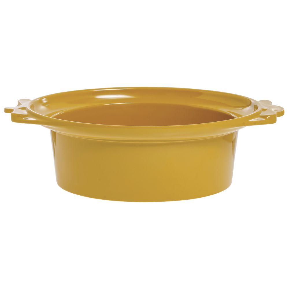 Expressly Hubert® Oval Melamine Bowl Mustard Yellow 17 1/2 x 12 1/2 x 6