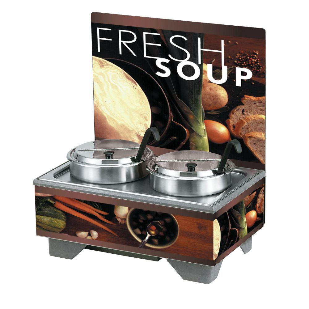 Vollrath Soup Merchandiser Base Unit Menu Board And 7Qt Accessory Pack Tuscan Graphics