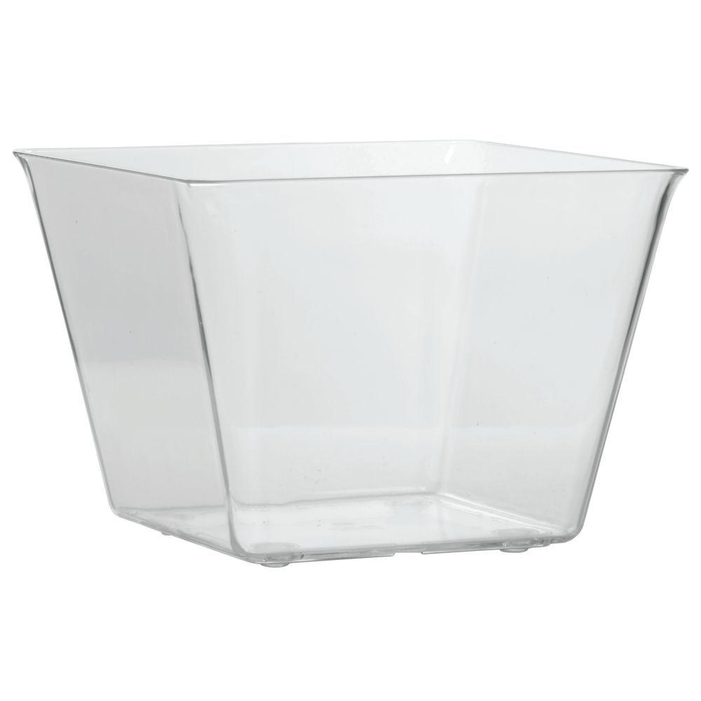 Delfin Acrylic Amphora Jar 1 gal in Clear with Solid Lid