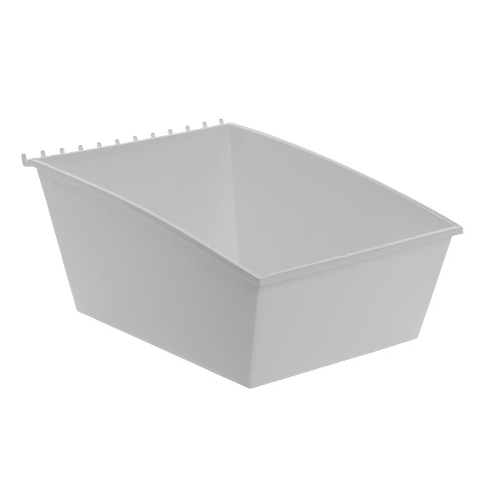 WhiteTilted Pegboard Storage Containers 11 14 x 12 x 6 710