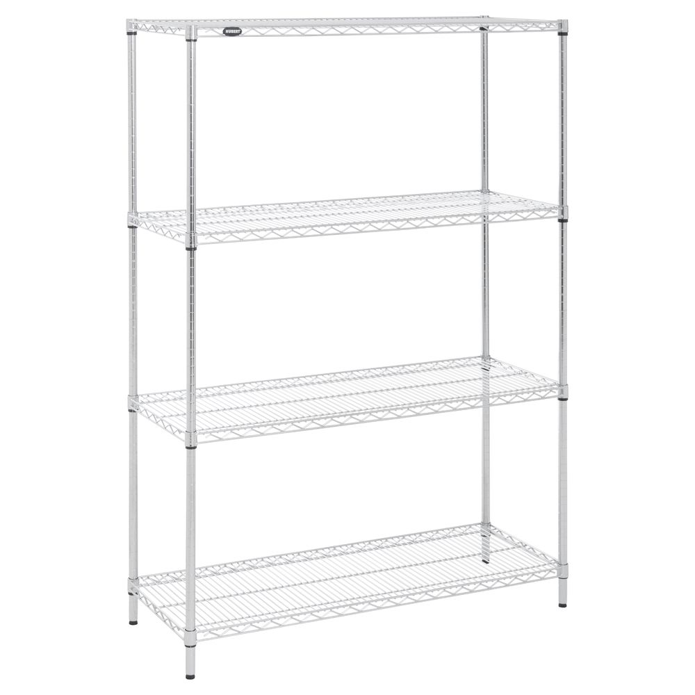 SHELVING, CHROME, 18X48X72