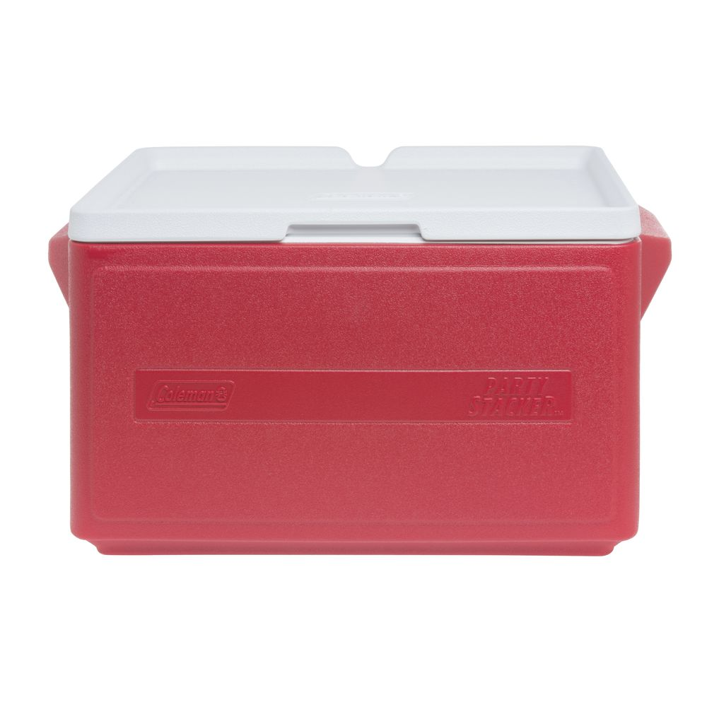 COOLER, PARTY STACKER, COLEMAN, 33 QT, RED