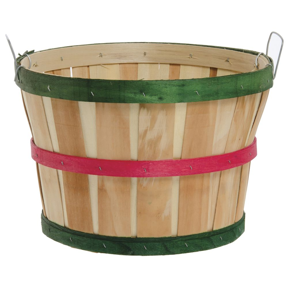 Baskets for Storage have a Red and Green Festive Design