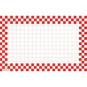 CARDS, CHECKERBOARD, 7 X 11, RED