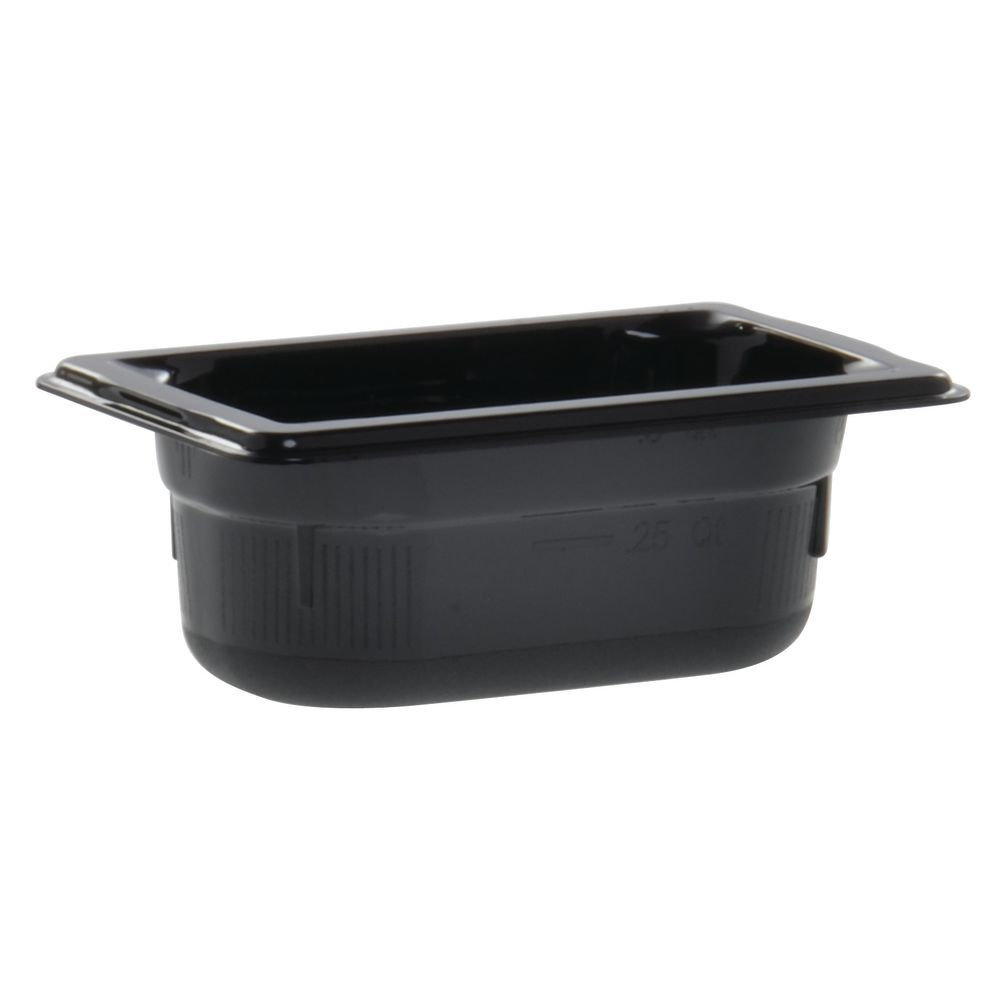 "Vollrath Super Pan Black Plastic Buffet Pan HighTemp 1/9 Size 2 1/2""D"