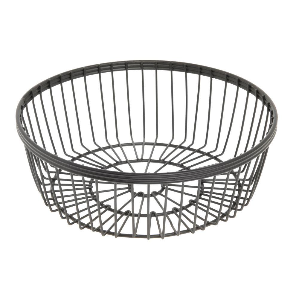 American Metalcraft Round Black Wire Basket - 8 Dia x 2 3/4H